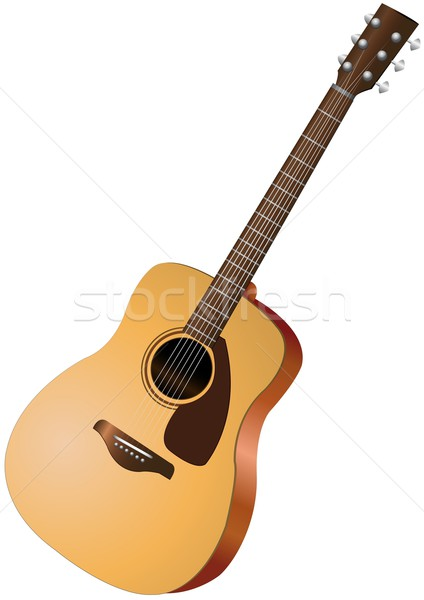 acoustic guitar Stock photo © Li-Bro