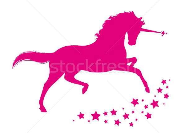 馬 星 動物 ピンク ファンタジー ストックフォト © Li-Bro