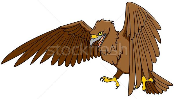 イーグル 実例 自然 鳥 動物 翼 ストックフォト © Li-Bro