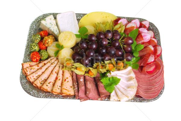 Buffet 14 cross formaggio piatto carne Foto d'archivio © LianeM
