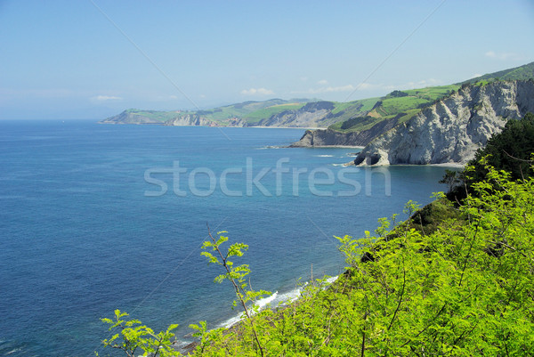 Stock photo: Costa Vasca near Deba