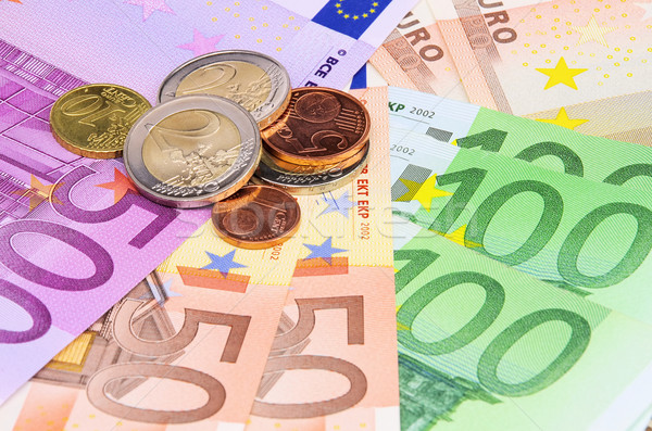 Geld 17 business bank euro nota Stockfoto © LianeM