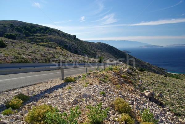 Stara Baska coast road 04 Stock photo © LianeM