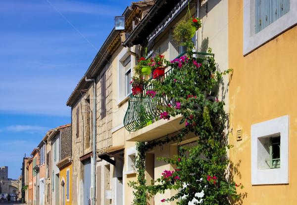 mediterranean house in southern Europe Stock photo © LianeM