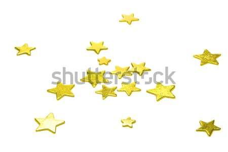 Yıldız beyaz 25 altın renk sarı Stok fotoğraf © LianeM