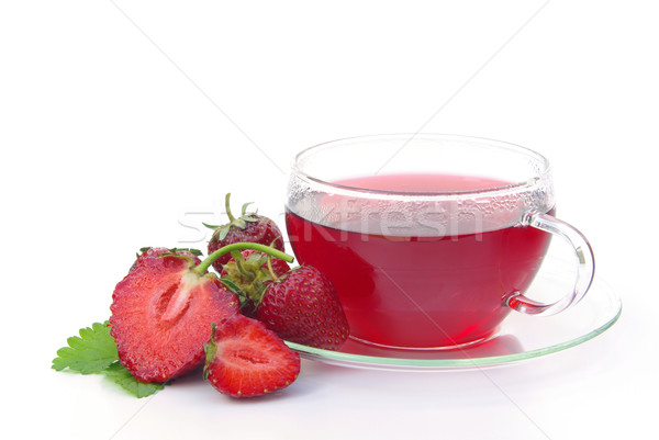 Stock photo: strawberry tea 01