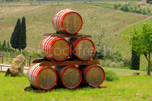 wine barrel 04 Stock photo © LianeM