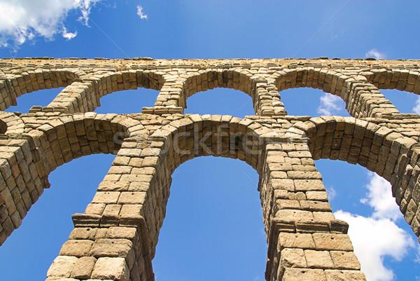 Segovia Aqueduct 09 Stock photo © LianeM