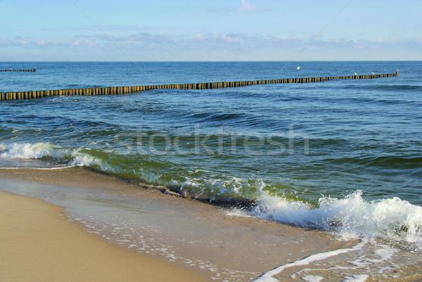 Balti-tenger tengerpart természet kék utazás hullám Stock fotó © LianeM