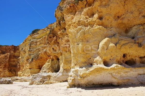Algarve beach da Senhora da Rocha  Stock photo © LianeM