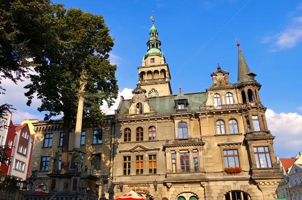 Stad stadhuis Polen gebouw reizen architectuur Stockfoto © LianeM
