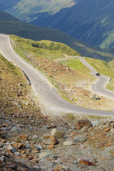 Vale geleira estrada natureza paisagem montanha Foto stock © LianeM