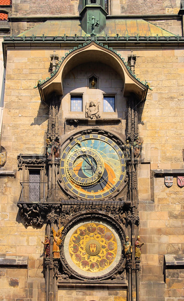 Prague tower clock 02 Stock photo © LianeM
