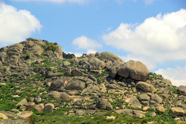 Valencia graniet rock landschap hemel natuur Stockfoto © LianeM