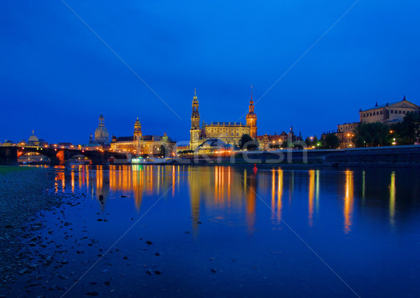 Dresden old town night 11 Stock photo © LianeM