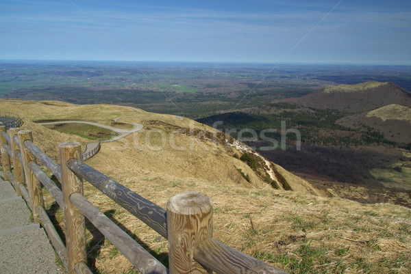 Puy de Dome mountaintop 01 Stock photo © LianeM