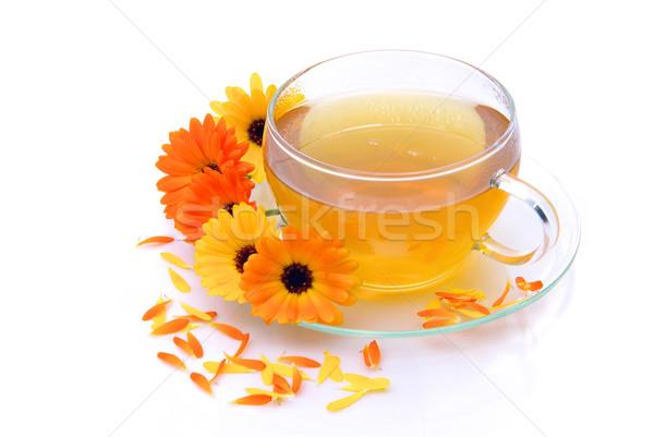 tea marigold 06 Stock photo © LianeM