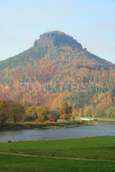 22 erdő tájkép kő kő folyó Stock fotó © LianeM