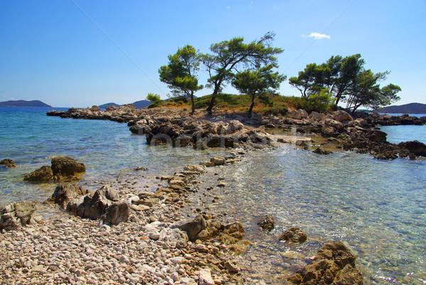 Dubrovnik 14 strand water boom berg Stockfoto © LianeM