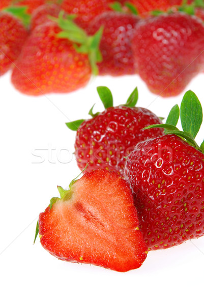 strawberry isolated 10 Stock photo © LianeM