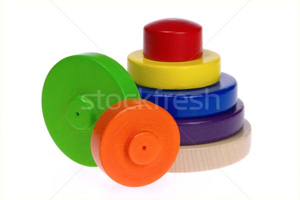 Brinquedos fundo laranja vermelho brinquedo Foto stock © LianeM