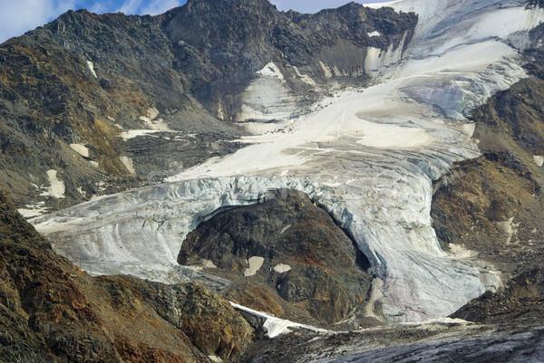 Vale geleira 18 natureza montanha gelo Foto stock © LianeM