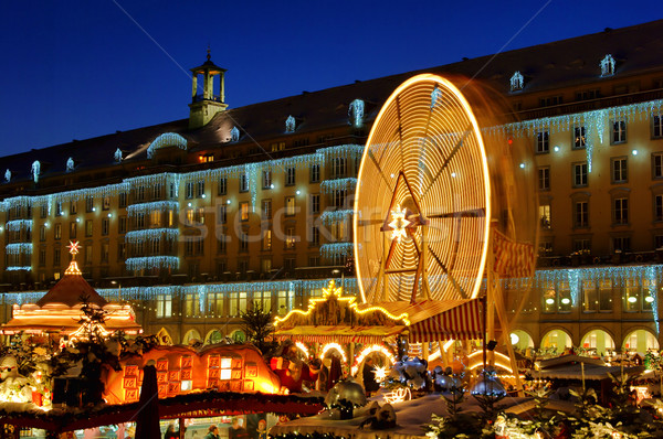 Dresde Navidad mercado 12 edificio ciudad Foto stock © LianeM