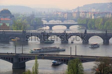 プラハ 橋 13 水 建物 ストックフォト © LianeM