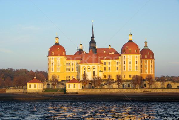 14 huis reizen kasteel meer architectuur Stockfoto © LianeM