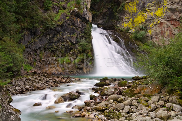 waterfall Reinfall in Alps Stock photo © LianeM