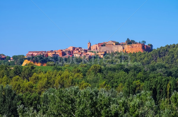 Roussillon in  Vaucluse , Provence Stock photo © LianeM