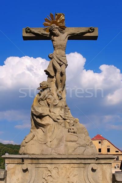 Stock photo: Statue from St. Johns Bridge, Klodzko (Glatz), Silesia
