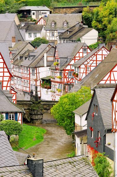 15 casa madeira quadro ponte rio Foto stock © LianeM