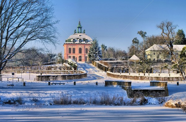 Moritzburg Little Pheasant Castle in winter  Stock photo © LianeM