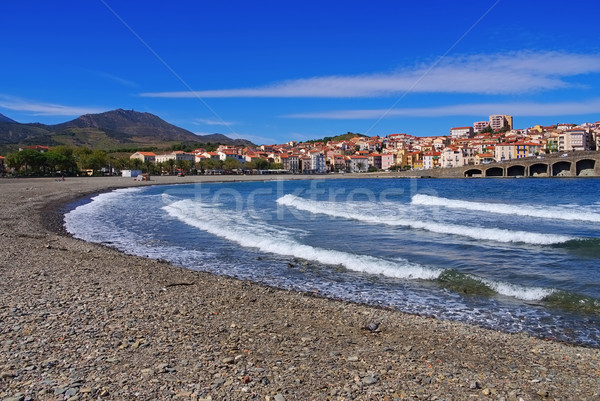 the town Banyuls-sur-Mer in France Stock photo © LianeM