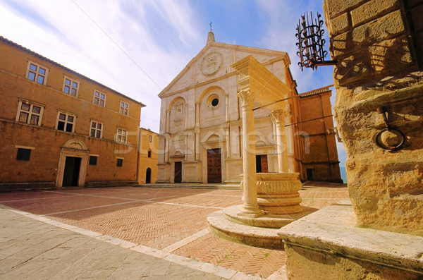 Pienza cathedral 03 Stock photo © LianeM