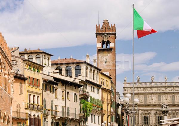 Verona cidade praça casa Foto stock © LianeM