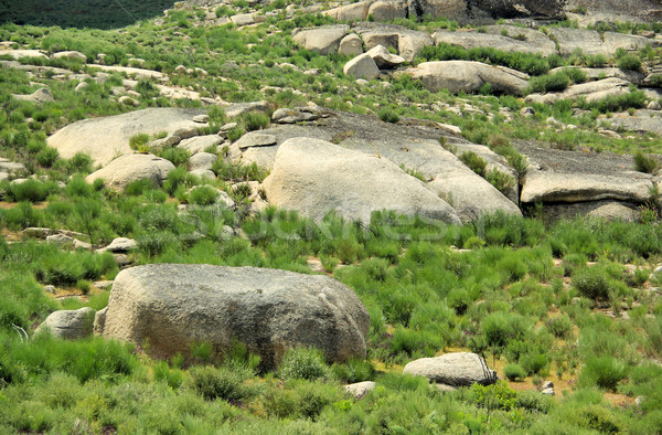 Valencia Granit rock Landschaft Berg blau Stock foto © LianeM