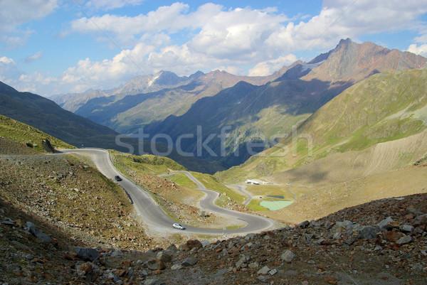 谷 氷河 道路 自然 風景 山 ストックフォト © LianeM