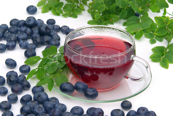 blueberry tea 06 Stock photo © LianeM