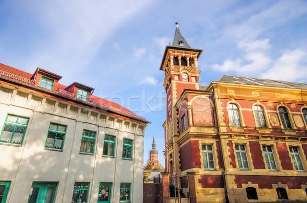 Vieux bureau de poste bureau bâtiment église brique Photo stock © LianeM