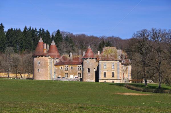 Saint-Emiland Chateau d Epiry Stock photo © LianeM