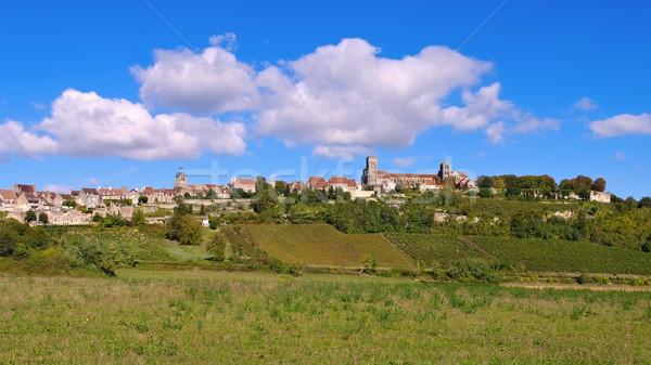 the town Vezelay, Burgundy Stock photo © LianeM