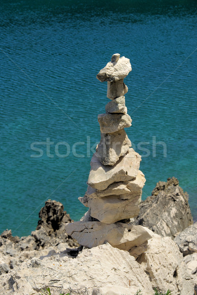 tower from pebbles 23 Stock photo © LianeM
