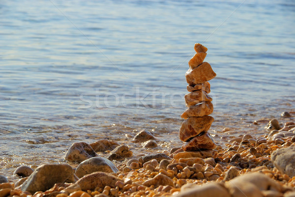tower from pebbles 01 Stock photo © LianeM