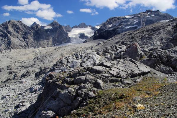 Alpes 26 nieve montana azul rock Foto stock © LianeM