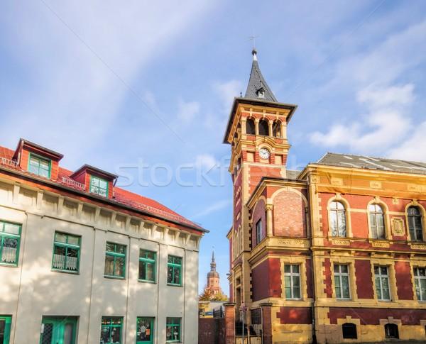 Edad oficina de correos oficina edificio iglesia ladrillo Foto stock © LianeM