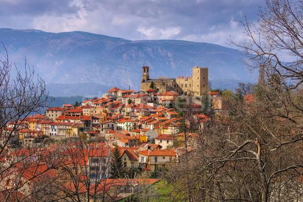 Village of Vernet Les Bains in Pyrenees, Languedoc-Roussillon Stock photo © LianeM