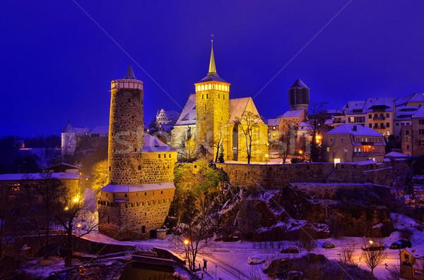 Bautzen night winter 01 Stock photo © LianeM
