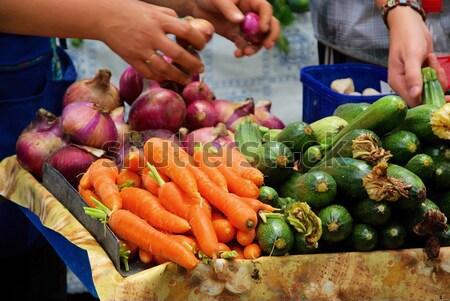 market stall for vegetable 03 Stock photo © LianeM